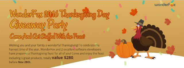 Wonderfox Thanksgiving Day Giveaway