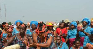 A cultural group at the venue of the  Ebonyi Cultural Day celebration in Lagos on Friday