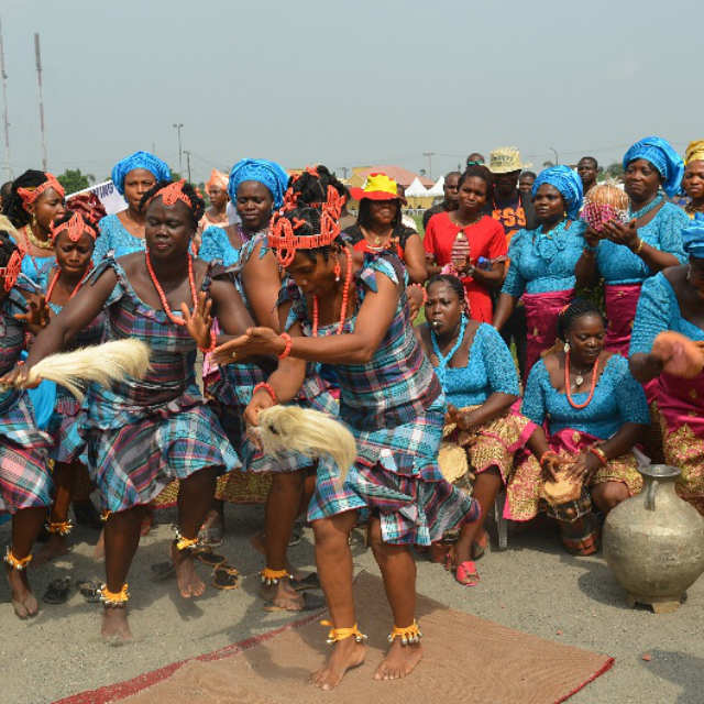 A cultural group at the venue of the 2016 Ebonyi Cultural Day celebration in Lagos on Friday, 18th November, 2016