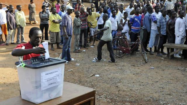 Scene of election in Ghana
