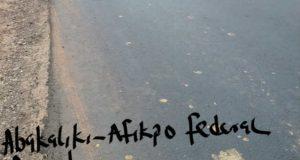 Asphalted section of Abakaliki Afikpo Federal Road