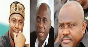 Dakuku Peterside and Rotimi Amaechi and Nyeson Wike
