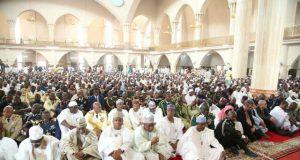 Bukola Saraki represented President Muhammadu Buhari at the Jummah Prayers Commemora  WA
