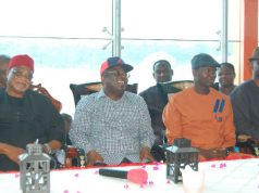 Governor David Umahi of Ebonyi State with other dignatories