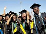 Nigerian students at a convocation hope to graduate