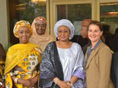 Toyin Saraki with Aisha Buhari and Melinda Gates