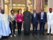 Senator Bukola Saraki with Malu Dreyer and other Nigerian Representatives