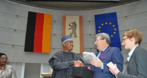 Senator Bukola Saraki with others at Bundesrat
