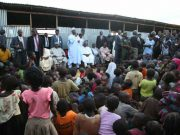 Senator Saraki visits Kuchigoro IDP Camp Abuja