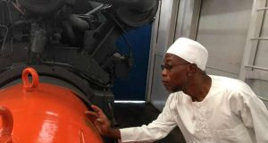 Ede Cocoa Industry Governor Rauf Aregbesola on inspection tour