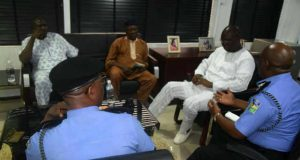 Lagos Police Command in Closed Door Meeting with OPC Leader Otunba Gani Adams and others