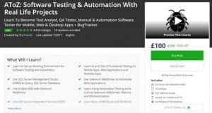 A to Z Online Course for Software Testing and Automation with Real Life Projects