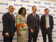 Andreas Berger Allianz Global Corporate Specialty AGCS Chief Regions Markets Officer Delphine Traoré Maïdou Allianz Africa COO Oliver Bäte and Coenraad Vrolijk Allianz Africa CEO