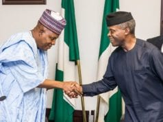 Bama Initiative Borno State Governor Kashim Shettima and Acting President Yemi Osinbajo th July