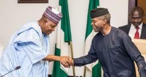 Bama Initiative Borno State Governor Kashim Shettima and Acting President Yemi Osinbajo th July