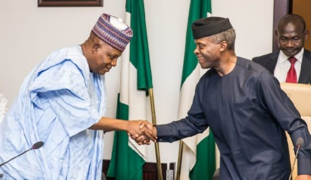 Borno State Governor Kashim Shettima and Acting President Yemi Osinbajo on 24th July 2017