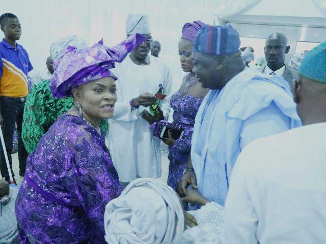 Chief Mrs Mercy Owolana welcomes Hon Ladi Adebutu