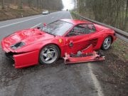 Crashed Ferrari Car