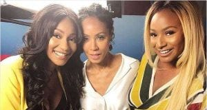 DJ Cuppy with Jada Pinkett Smith