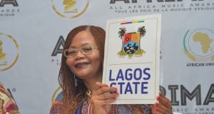 Director Brand and Communications AFRIMA Matlou Tsotsesi Unveiling Lagos State as the Host City for the  All Afrca Music Awards