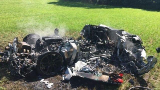 Ferrari Car in a Fatal Accident