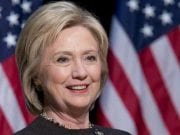 Former US Secretary of State and Democratic presidential nominee Hillary Clinton