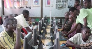 Internet Users in one of Nigerias Cyber Cafe