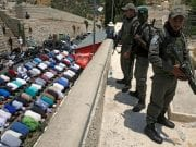 Israeli soldiers at the Holy Site in Jerusalem