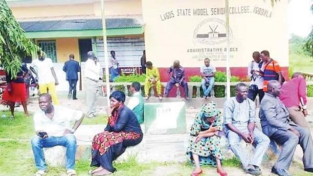 Parents at Lagos State Model Senior College, Igbonla-Epe, Lagos Nigeria