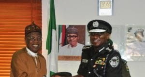 Minister of Information and Culture Alh Lai Muhammad with Inspector General of Police IGP Ibrahim Kpotun Idris