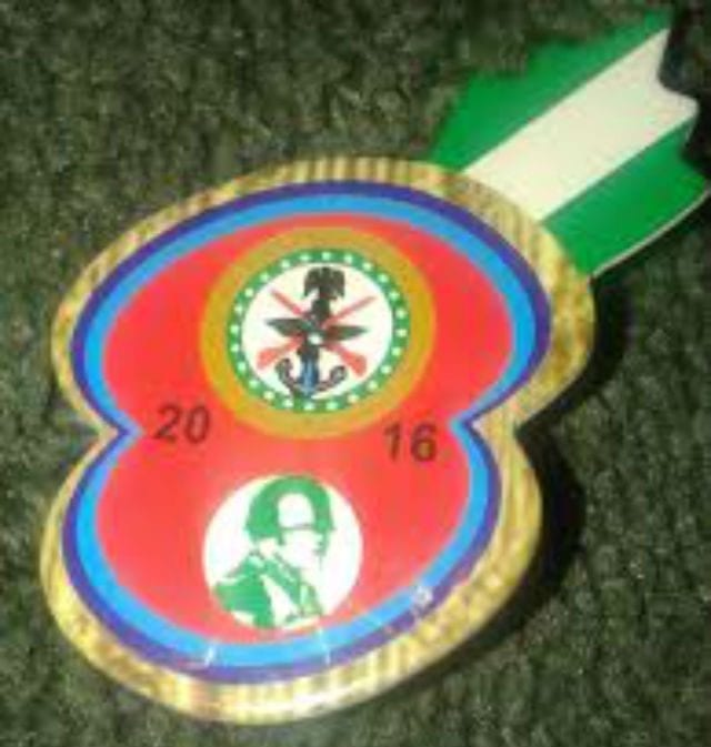 Nigerian Legion Army Remebrance badge