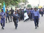 Nigerian Navy And Air Force Joint Route March In Abuja