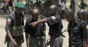 Nigerian police arrest a suspect in Bayelsa