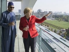 Nigeria's President Muhammadu Buhari and German Chancellor Angela Merkel in Germany