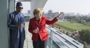 Nigeria's President Muhammadu Buhari and German Chancellor Angela Merkel in Germany