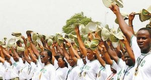 Picture of National Youth Service Corps (NYSC) Members in one of the Nigerian States