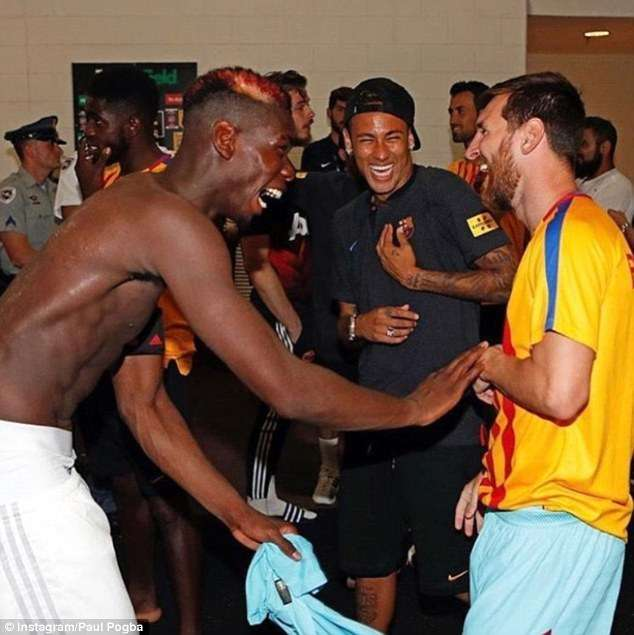 Pogba NeymarJunior and Lionel Messi