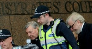 Police Officers and Lawyer with Cardinal George Pell