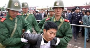 Public Execution of a Criminal in China