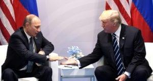 Russian President Vladimir Putin and US President Donald Trump in Hamburg, Germany