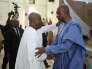 The Senate President and Senator Peter Nwaoboshi at the Thanksgiving Service