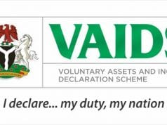 Voluntary Assets and Income Declaration Scheme VAIDS Nigeria logo