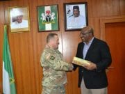 Adjutant General, California National Guard, Major General David S. Baldwin with Minister of Interior, Lt Gen. (rtd) Abdulrahman Bello Dambazau