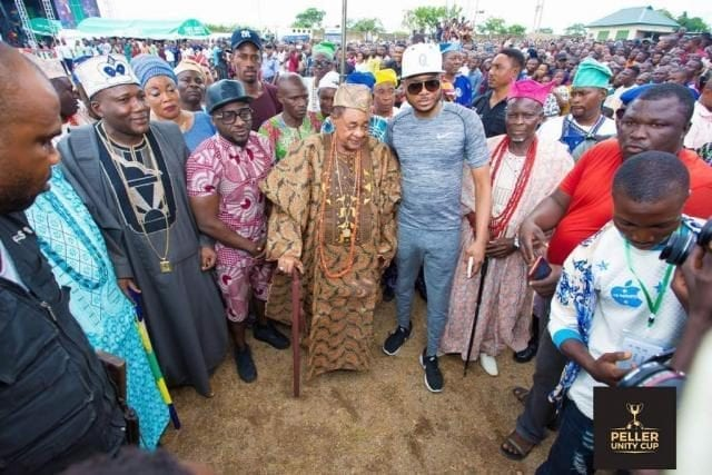Alaafin of Oyo's Arrival at the Peller Unity Cup 2017 Grand Finale