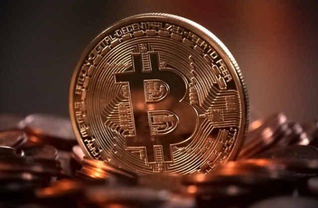 Engraved Bitcoin Logo