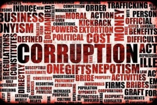 Bribery and Corruption Words Map