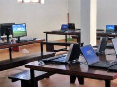 Computer Training Centre with Laptop Computer Desktops Keyboards and Mice