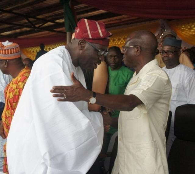 Edo State Governor Godwin Obaseki and Ex-Governor Adams Oshiomhole