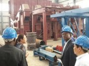Governor Samuel Ortom of Benue State at the Star Cement Factory in Igumale, Benue State