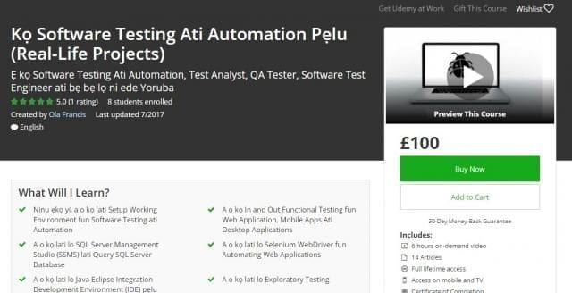 Kọ Software Testing Ati Automation Pẹlu (Real-Life Projects)